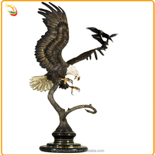 Metal Arts And Crafts Garden Bronze Outdoor Eagle Statue Birds For Sale