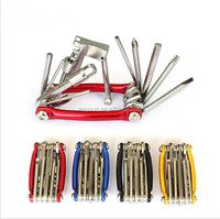 11 In 1 Multifunction Bike Bycicle Cycling Combination Repair Tool + Bike Chain Cutter + Hex Wrench + Screwdriver