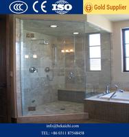 Hotel bathroom shower door smart glass