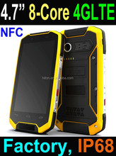 2015 4.7 inch MSM8939 Octa core 4G Rugged Smart Phone, Rugged Smartphone with Android 4.4 NFC IP68