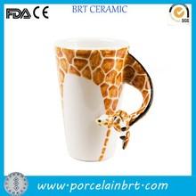 Giraffe white ceramic Juice Mug