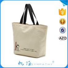 China Manufacturer Cotton shopping bag / Fashion beach bag / Canvas tote bag