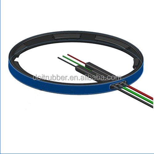 electric cable gland rubber seal, silicone rubber products cable seal (oil resistant seal)