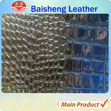 Wholesale shiny classic pattern embossed crocodile skin price