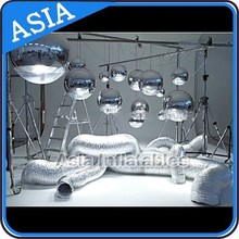 Party decoration high quality large mirror balloon,inflatable mirror balloon flying silk balloon
