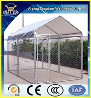 china wholesale Large outdoor cheap chain link dog kennel / dog cages price , welded wire dog kennel / pet enclosure