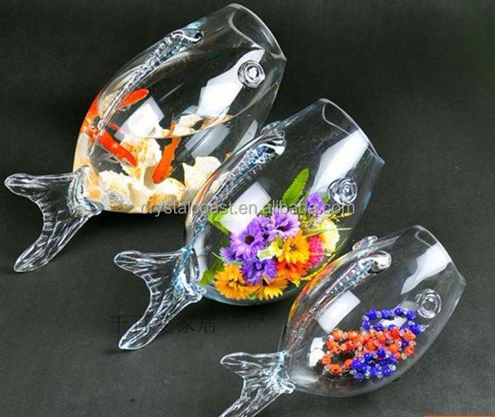Large glass fish bowl glass goldfish bowl clear glass fish for Large glass fish bowl
