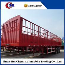 Fence cargo semi trailer with leaf spring suspension