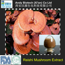 100% Natural Red Reishi Mushroom Extract 4:1