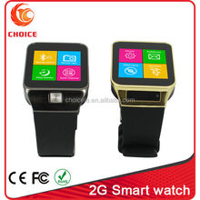 2G smart touch screen mobile led watch phone with camera video call