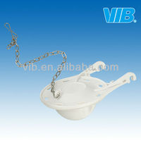 ABS Plastic Flapper in 3 inch of stainless steel chain for plastic toilet flush cistern fittings