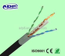 4 Pairs Double Jacket waterproof utp cat 6 outdoor lan Cable PVC+PE cable