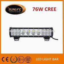 13.5 inch 76w Single&Duable 4x4 off road LED Driving Light Bar, Truck LED Light, 76w LED 12v Head Light