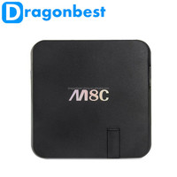 M8C s802 Full HD Media Player 4k 3D 1080p Android TV Box Quad Core box iptv m8c android tv box accpet paypal