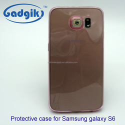 Gadgik,Hot sell premium shell,pink transparent TPU case,face case for Samsung Galaxy S6