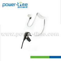 Listen only headset with medical acoustic tube for all kinds of speaker mic