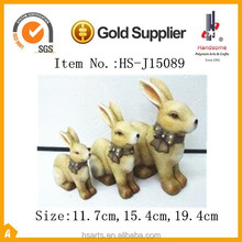 hand-painted ceramic rabbit figurine gifts for garden ornament