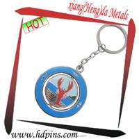 OEM fashion custom metal enamel key chain with custom logo for fishing souvenir