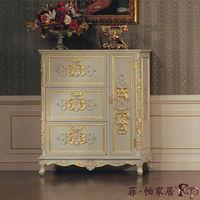 luxury furniture gold - antique hand carving leaf gilding shoe cabinet
