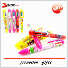 best selling 6 in 1 multi color ink pen