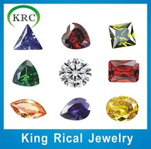 Hot sell different cut various colors cubic zirconia for jewelry