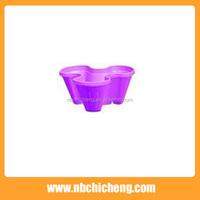 3 Petal Beautiful Stackable Vertical Plastic Flower Pot For Balcony And Garden