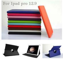 For ipad pro 360 degree rotation protective leather case, colorful litch leather case for ipad pro 12.9 inch