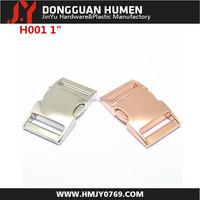 metal side release buckle/ metal bag buckle/metal rose gold buckle for bag