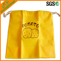 Custom promotional small non woven drawstring bag with printing