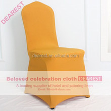 gold hot selling cheap spandex wedding banquet chair cover
