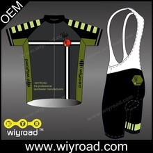 Accept sample order cycling jersey and bib shorts cycling/cycling wear silicone/coolmax bicycle shorts