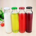 Suco de garrafa de vidro 300 ml 300 ml garrafa de vidro de leite com tampa de rosca