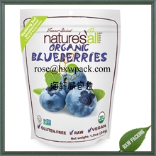 Organice fresh blueberry food packing plastic pouch with ziplock