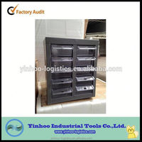 Drawer type parts cabinet for 10 drawers transparent /blue color cabinet