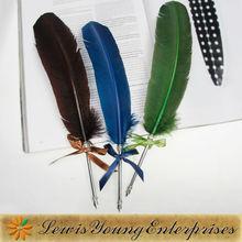 turkey feather dip pen,turkey feather collection