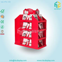 paper material cardboard book shelf&magazine display stand
