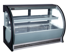 Cake display chiller marble base or Stainless Steel cake showcase refrigerators