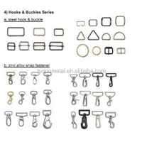 Fashion nickle zinc alloy metal hook buckle