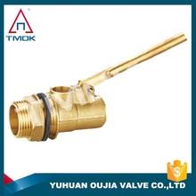 male thread brass water tank mini plastic 2 inch small water tank water level male NPT thread brass ball float valve