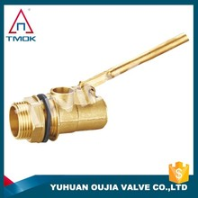 male thread brass water tank mini plastic 2 inch small water tank water level male NPT thread brass ball float valve