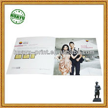 128g C2S art paper brochure for LED light in perfect binding/ high quality low price brochure printing