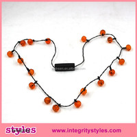Hot sale led concert flashing Halloween light up necklace promotion gift