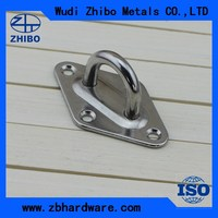 304 Stainless Steel Pad eye / Pad Eye Plate / Eye Plate Door Hardware for Sale