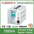110v/220v transistore 1500va régulateur de tension à haute température de protection