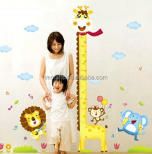 Hot sell New Cartoon Animal Hight Chart Wall Sticker Decals Lion Giraffe Monkey Mouse Kids Decoration Room Home stickers XY1105