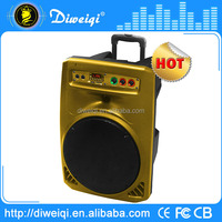 Special design fm radio portable bluetooth speakers with wheels