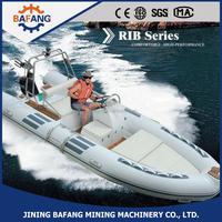 2015 Hot style! CE certificate,4.8m/8person/60 horsepower fiberglass rigid inflatable boats
