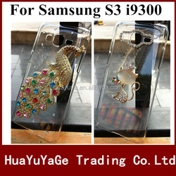Free shipping phone cases 3D DIY cover Luxury Crystal Clear Diamond Bling Case for Samsung Galaxy S3 i9300