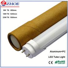 2015 Manufacturer AC100-240V T8 LED Tube Light 9W 18W 23W Tube LED Light Aluminum Type 120 Degree 900mm 1200mm 1500mm