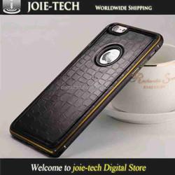 Crocodile pattern aluminum luxury case for iphone 6